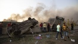 VOA慢速英语:贝鲁特发生大规模爆炸导致70多人死亡3000多人受伤