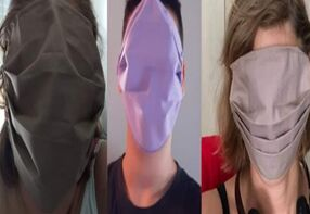 希腊给学生发巨型口罩