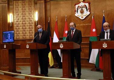 国际英语新闻:Jordan, Germany, France, and Egypt stress on two-state solution as key to achieve peace