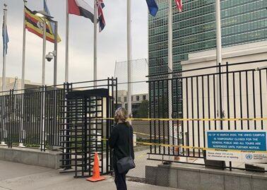 国际英语新闻:All in-person meetings suspended at UN New York headquarters due to COVID-19 infections