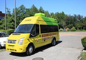 我国首款轻型客车搭载的新冠病毒检测移动实验室交付使用