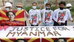 VOA慢速英语:缅甸抗议者英语优先