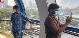 新加坡外来务工人员的天际景观