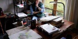 88岁的艺术家在疫情期间每天都画一幅画